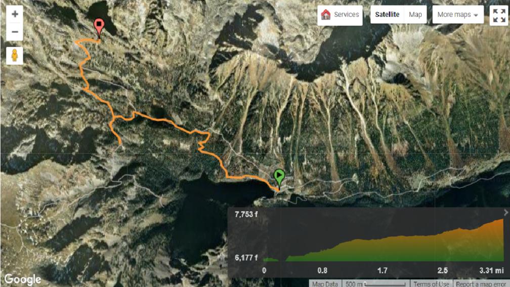 trilha Sant Maurici - refugi amitges